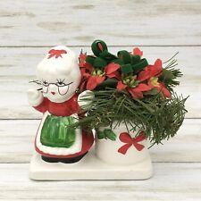Vintage Christmas Mrs Claus Ceramic Mini Planter Figurine