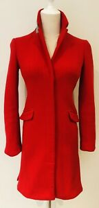 ARMANI EXCHANGE RED HOLIDAY JACKET ZIPS BUTTONS XXS / 6 WOOL BLEND WINTER WARM