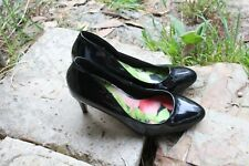 NEXT Black Gloss Size 37.5 / 5.5   Slim Heel 8 cm   24 cm inside Great Condition