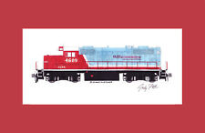 "Carolina Coastal Railroad GP9R 11""x17"" Matted Print Andy Fletcher signed"