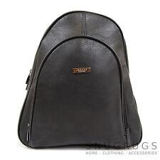 Ladies / Womens Faux Leather Back / Rucksack / Shoulder Bag