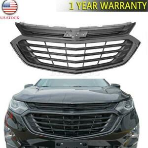 For 2018 2019 2020 Chevrolet Equinox Front Bumper Upper Grille Grill Gloss Black