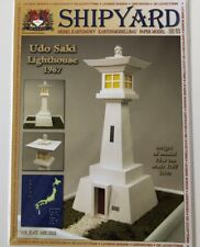 Shipyard Japanesse Lighthouse Udo Saki Cut Out Paper Model Scale 1:87 HO