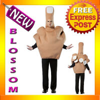 C469 Mens The Finger Hand Funny Bucks Halloween Fancy Dress Costume Outfit