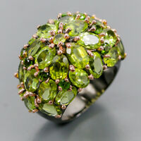 Peridot Ring Silver 925 Sterling One of a kind ring Size 7 /R140494