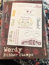Joanna Sheen 'Wordy' Stamps Set Three