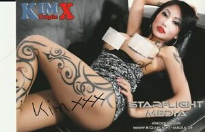 Kim Triple X ,Autogrammkarte !