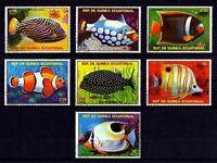 Eq GUINEA - 1975 - FISH - TROPICAL FISH - SEA LIFE - CTO SET OF 7!