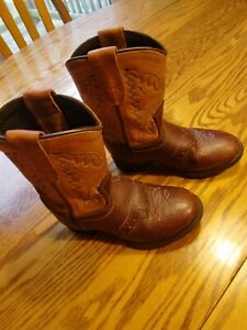 Toddler age2 Boy/Girl  sz8 Cowboy Cowgirl Boots Leather Old West pull on
