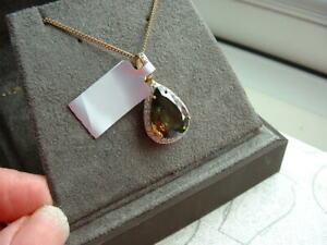 Colour Change Sphene & Diamond18ct Yellow Gold Pendant with Chain