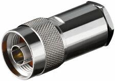 N-Stecker mit ø 11 mm lötbar Gold Pin, für RG 213 Kabel