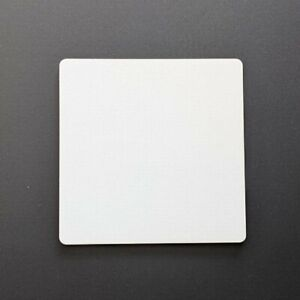 Square Blank - Laser Cut White-Faced 3mm MDF for Art and Craft Projects