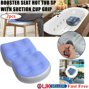 2 x Home Spa Booster Seat Inflatable Spa Cushion Hot Tub Accessories Adult Kid