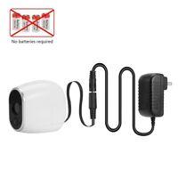 DC Power Adapter for Arlo VMC3030 Camera (Replace CR123A Batteries, US EU Plug)