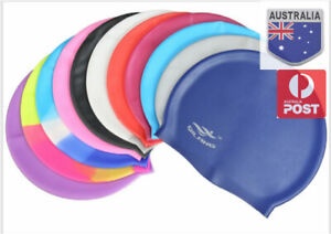 Men Women Adults Kid Silicone Swim Swimming Cap Durable Flexible Australia Stock