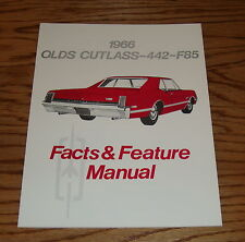 1966 Oldsmobile Cutlass 442 F85 Illustrated Facts & Features Manual Brochure 66