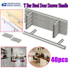 40 Stainless Steel Kitchen Cabinet Door Knob T Bar Cupboard Drawer Handle Pulls
