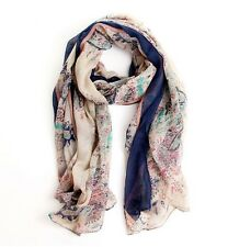Scarf Fields and Gardens Floral Scarf Large Scarf Women Winter Warm Scarves