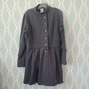 Matilda Jane Gray Onyx Secret Fields Peplum Coat Gray Jacket Womens Large