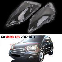 For Honda CRV Pair Left Right Side PC Headlight Cover Lens Lampshade  2007-2011