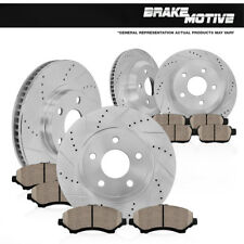FRONT+REAR DRILLED SLOTTED BRAKE ROTORS AND CERAMIC PADS Dodge Durango Ram 1500