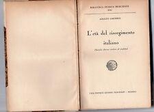 l'eta' del risorgimento italiano - adolfo omodeo - 1931