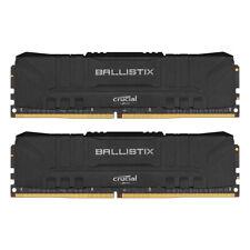 Crucial Ballistix Schwarz 32GB Kit (2x16GB) DDR4-2666 CL16