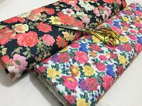 *NEW*Soft Stretch Jersey Ponte Double Knit Floral  Dress/Craft Fabric*FREE P&P*
