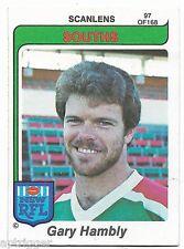 1980 NSW RFL Scanlens (97) Gary HAMBLY Souths : Near Mint :