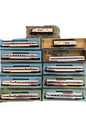 N Scale Concor Amtrak Passenger Train Set Cars Dome Pullman Coach F3 AB Engines