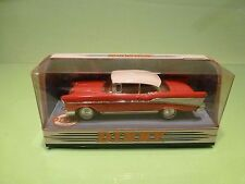 DINKY TOYS DY2 CHEVROLET BEL AIR 1957 - RED 1:43 - GOOD CONDITION IN BOX