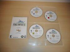 Final Fantasy XI Online 11 Four Game Discs & Manual PC Windows Game FF11 FFXI