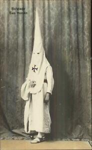 Spain Holy Week Costumes Hooded Hats Capirotes Borriquita Tinted RPPC #2