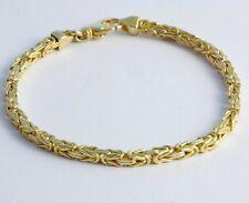 "10 gram 14K Yellow Solid Gold Men's Women's Byzantine Chain bracelet 8"" 2.50 mm"