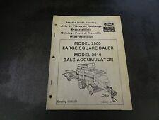 New Holland Ford Model 2000 Large Square Baler Service Parts Catalog Manual
