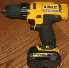 Dewalt DCD710 10.8v XR li-ion drill driver Body +1x DCB125 10.8V 1.5Ah batt.