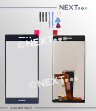 Schermo Display touch screen Huawei P7 nero+biadesivo+kit riparazione