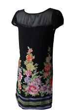 Size S K DERHY Black Floral Sequined Party Dress