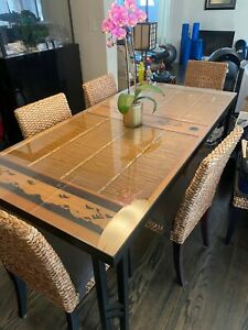 wood dining table set 8 chairs