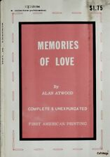 Memories of Love by Alan Atwood Vintage 1968 Pulp Erotica Sleaze girlie Olympia