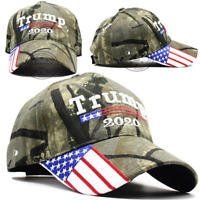 MAGA Donald Trump 2020 Flag Camo Hat President Usa Mesh Make America Great Again