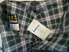 BARBOUR-A124 LINED OVER TROUSERS -WAXED COTTON- MADE @UK- NEW OLD STOCK- X SMALL