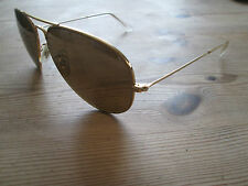 Ray Ban vintage Bausch and Lomb gold frame aviator sunglasses.With Driving case.