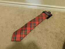 New Chaps Red, green and white men's tie