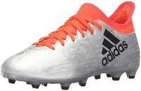 Adidas X 16.3 FG J Metallic Silver/Core Black/Solar Red Soccer Shoe (PS/GS)
