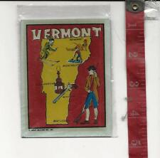 Vintage travel water decal Vermont Great Western Ent. Inc. FREE SHIPPING