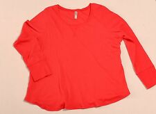Cacique Red Thermal Long Sleeve Sleep Shirt size 26/28