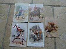 Lot de 5 cartes de Voeux Vierge Armée Afrique Spahis Algeriens Marocain