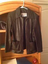 Wilson Pelle Studio Women's black soft leather Jacket size Medium