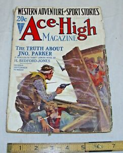 ACE HIGH WESTERN ADVENTURE & SPORTS STORIES PULP MAGAZINE SEPT. 1927